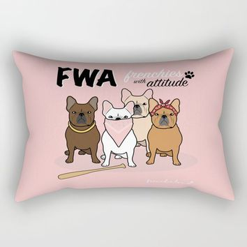 FWA by Frenchie Love Rectangular Pillow by Frenchie Love
