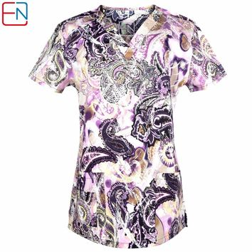 Hennar scrub tops in 100% cotton ,women scrub tops,women medical uniforms STRETCHY MATERIALS