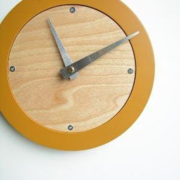 saffron modern wall clock by uncommon on Etsy