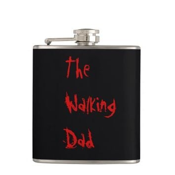 The Walking Dad - Funny Zombie Pun Flasks