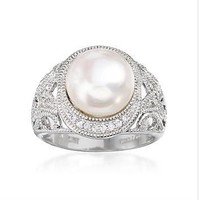 Big White Freshwater Cultured Pearl Ring