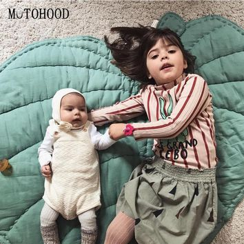 MOTOHOOD Leaf Shape Baby Play Mat Cartoon Baby Infant Creeping Mat Playmat Blanket Play Game Mat Room Decoration 110cm