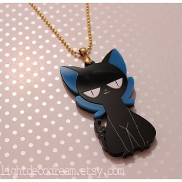 SALE Suppi of Cardcaptor Sakura Acrylic Charm Necklace for Mahou Kei, Magical Girl Fashion, & Animal Familiar Lovers