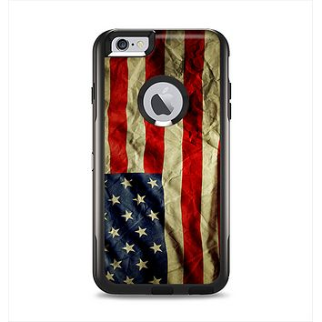 The Dark Wrinkled American Flag Apple iPhone 6 Plus Otterbox Commuter Case Skin Set