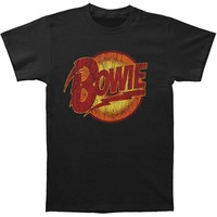 David Bowie Men's  Thunder T-shirt Black Rockabilia