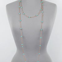 "72"" turquoise stone cord knot boho layered wrap necklace earrings"