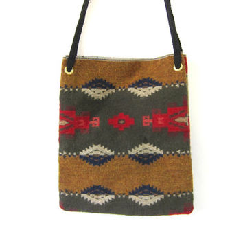 Vintage Carpet Handbag. Tapestry Rug Purse. hippie boho Grunge Shoulder Market bag