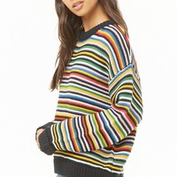 Multicolored Drop-Shoulder Sweater
