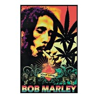Bob Marley One Love Reggae Blacklight Poster New 1872 Blacklight Poster Print, 22x34
