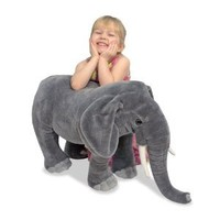 Melissa & Doug Elephant Plush: Toys & Games