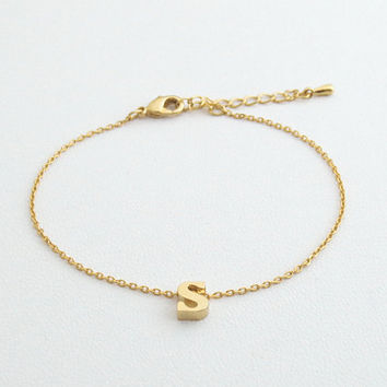 Personal, Small letter, Lower case, Initial, Gold, Silver, Bracelet, Anklet, Lovers, Friends, Mom, Sister, Gift