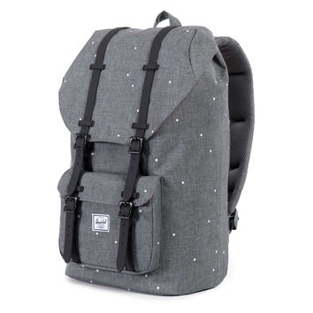 Herschel Supply Co.: Little America Backpack - Scattered Charcoal / Black Rubber
