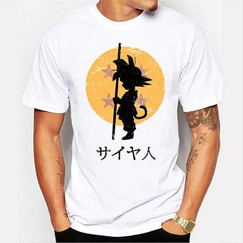Japanese animation dragon ball pattern printing Men's T-shirt
