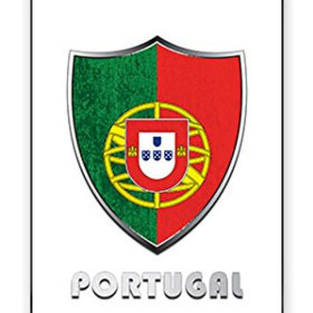 The Best Portugal SOCCER Football National Flag Badge Direct UV Printed iPhone 5C Quality TPU SOFT RUBBER Snap On Case for iPhone 5C - AT&T Sprint Verizon - White Case