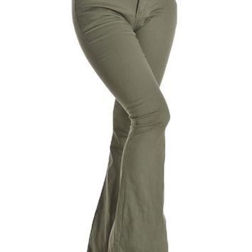 Women's Colored Bootcut Pants