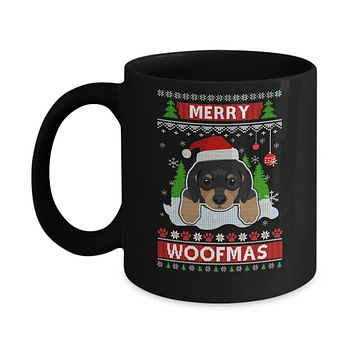 Dachshund Merry Woofmas Ugly Christmas Sweater Mug