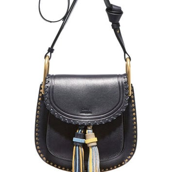 Chloé - Hudson small studded leather shoulder bag