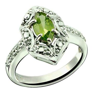 RB Gems Sterling Silver 925 Ring GENUINE GEMSTONE Marquise Shape 070 Carat with RhodiumPlated Finish