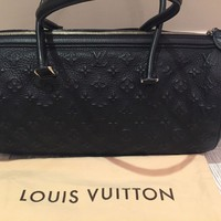 LOUIS VUITTON Neo Papillon GM Monogram Revelation bag purse in Black Leather