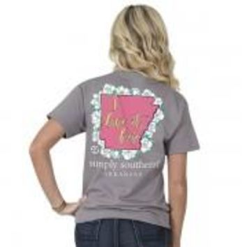 "Simply Southern State ""Arkansas"" Tee"