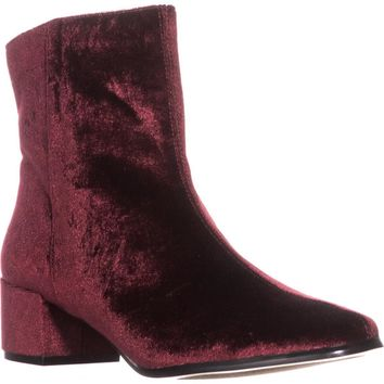 Chinese Laundry Florentine Ankle Boots, Wine Velvet, 7.5 US / 38 EU