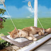 Practical Washable Funny Puppy Pet Hammock Window Mounted Cat Bed Sunny Seat Machine Pet Cat Hanger Bed Pet Accessories