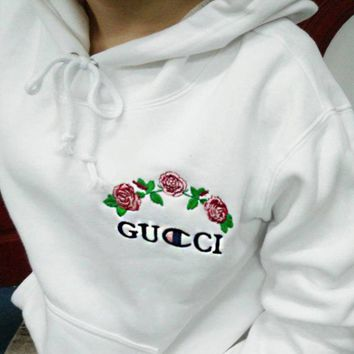 One-nice™ Gucci X Champion Hoodie Varsity Made In Mexico Jacket Sweater hooded Bape Jacket Hip Hop