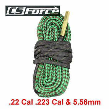 CS Force Gun Cleaning Kit .22 Cal .223 Cal & 5.56mm Rifle Shotgun Barrel Cleaning Rope Pistol Cleaning Brush Gun Cleaning Rope