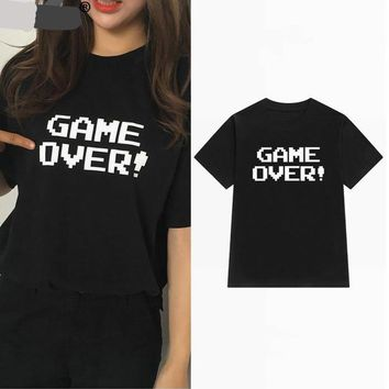 Game Over! - Funny Mother and Child Matching Pair T-shirts