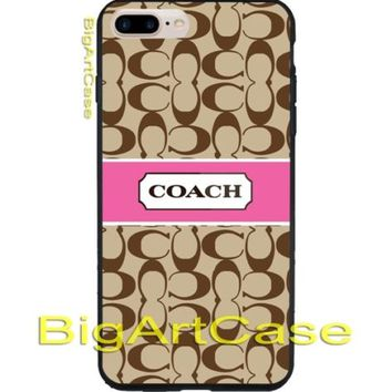 Best Coach Pattern Pink Ribbon CASE COVER iPhone 6s/6s+7/7+8/8+,X, Samsung 6/7/9