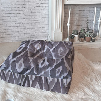 Natalie Baca Painterly Ikat in Black Floor Pillow Square