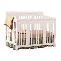 Stork Craft Tuscany Fixed Side 4-in-1 Convertible Crib (White)