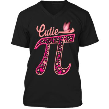 Pi Day Shirt Women Kids Men Toddler Math Teacher Gift Funny Mens Printed V-Neck T