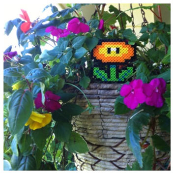 Orange or blue Flower Power Plant from Mario no pot by K8BitHero