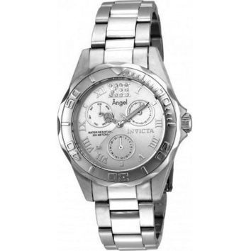 Invicta Women's 21696 Angel Quartz Chronograph Silver Dial Watch