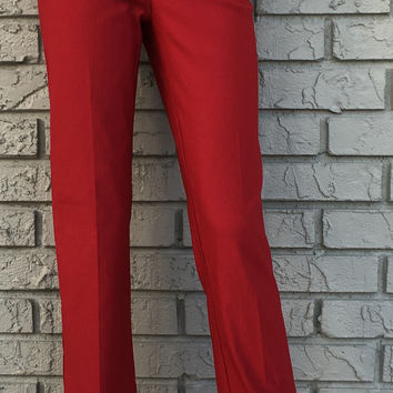 Dark Red Pull Up Pants