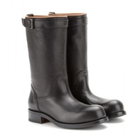 bottega veneta - leather calf boots