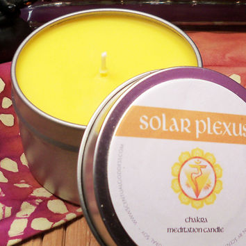 SOLAR PLEXUS CHAKRA CANDLE - Regain Your Confidence & Personal Power