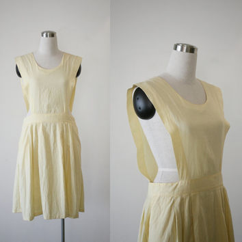 Bob Evans 1950's jumper dress, vintage pinafore uniform nurse dress