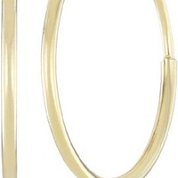 "14k Yellow Gold Endless Hoop Earrings (0.45"" Diameter)"