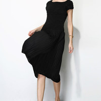 Pleated Fabric Designer Dress