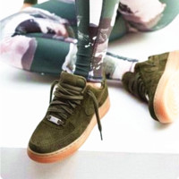 """NIKE""AIR Running Sport Casual Shoes Sneakers Army green -khaki soles H-AA-SDDSL-KHZHXMKH"