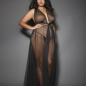 Plus Size Grecian Gown