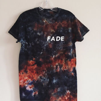 FADE Black & Rust Watercolor Tee (Acid-Wash Look)