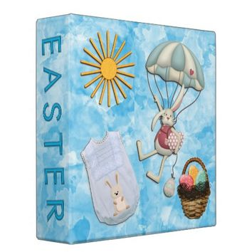 Customizable Baby Boy Easter Scrapbook Binder