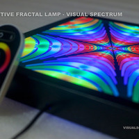 Interactive lighting! Psychedelic VISUAL SPECTRUM Fractal Lamp In Action!