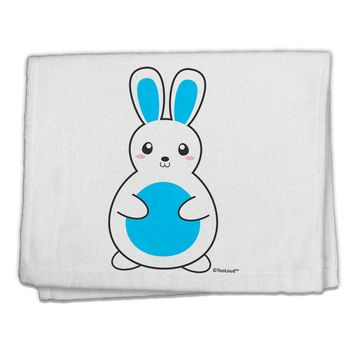 "Cute Easter Bunny - Blue 11""x18"" Dish Fingertip Towel by TooLoud"