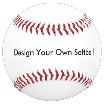 Design Your Own Custom Photo Personalized Softball