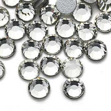 1440pcs Flatback Crystal Rhinestones in Supreme Quality - SS12 3.0mm Clear White