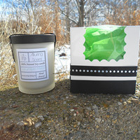 Cucumber Melon wood wick, natural soy candle.